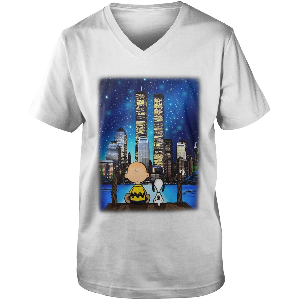 Peanuts Snoopy Charlie Brown New York guys v-neck