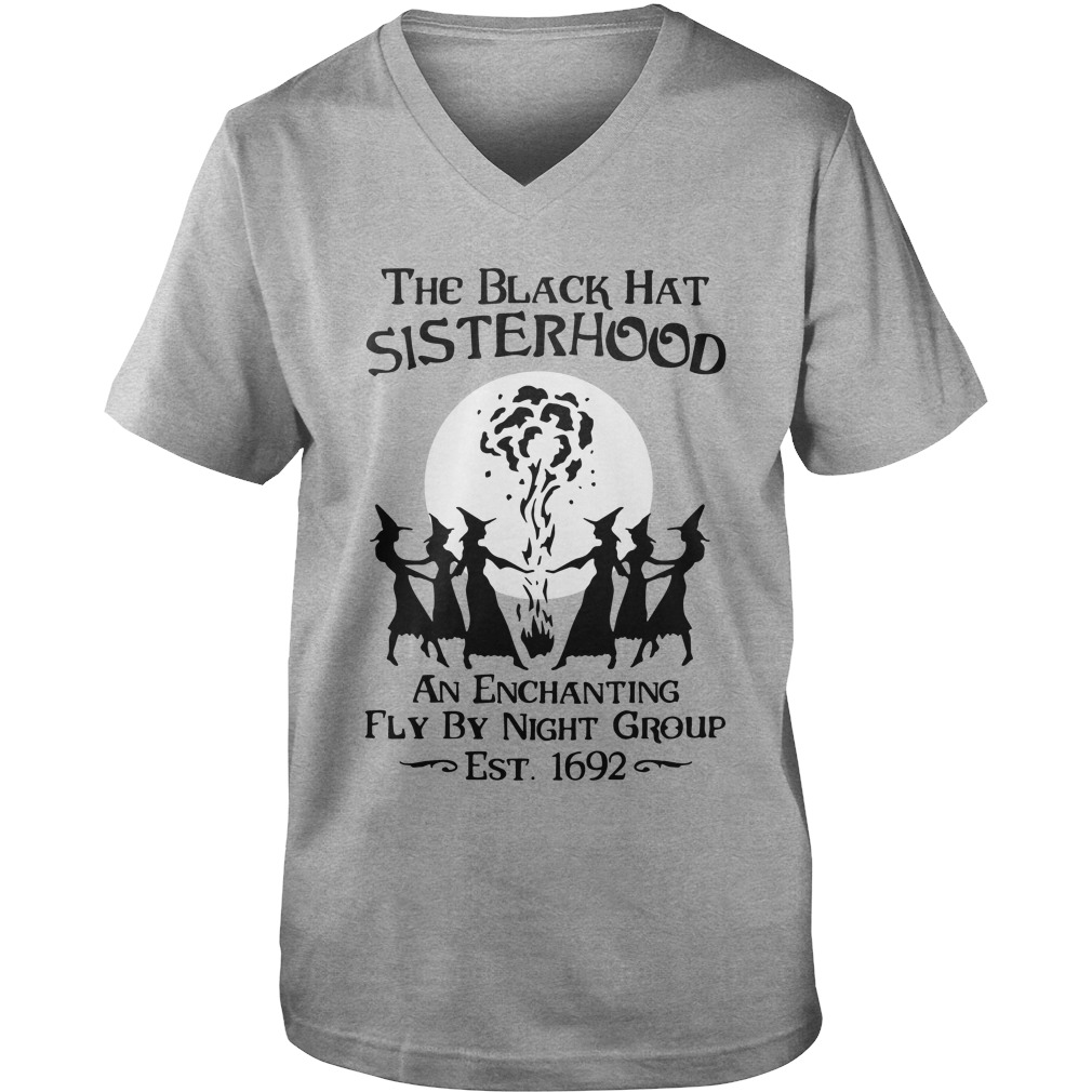 The Black Hat Sisterhood An Enchanting Fly By Night Group Est 1692 guys v-neck