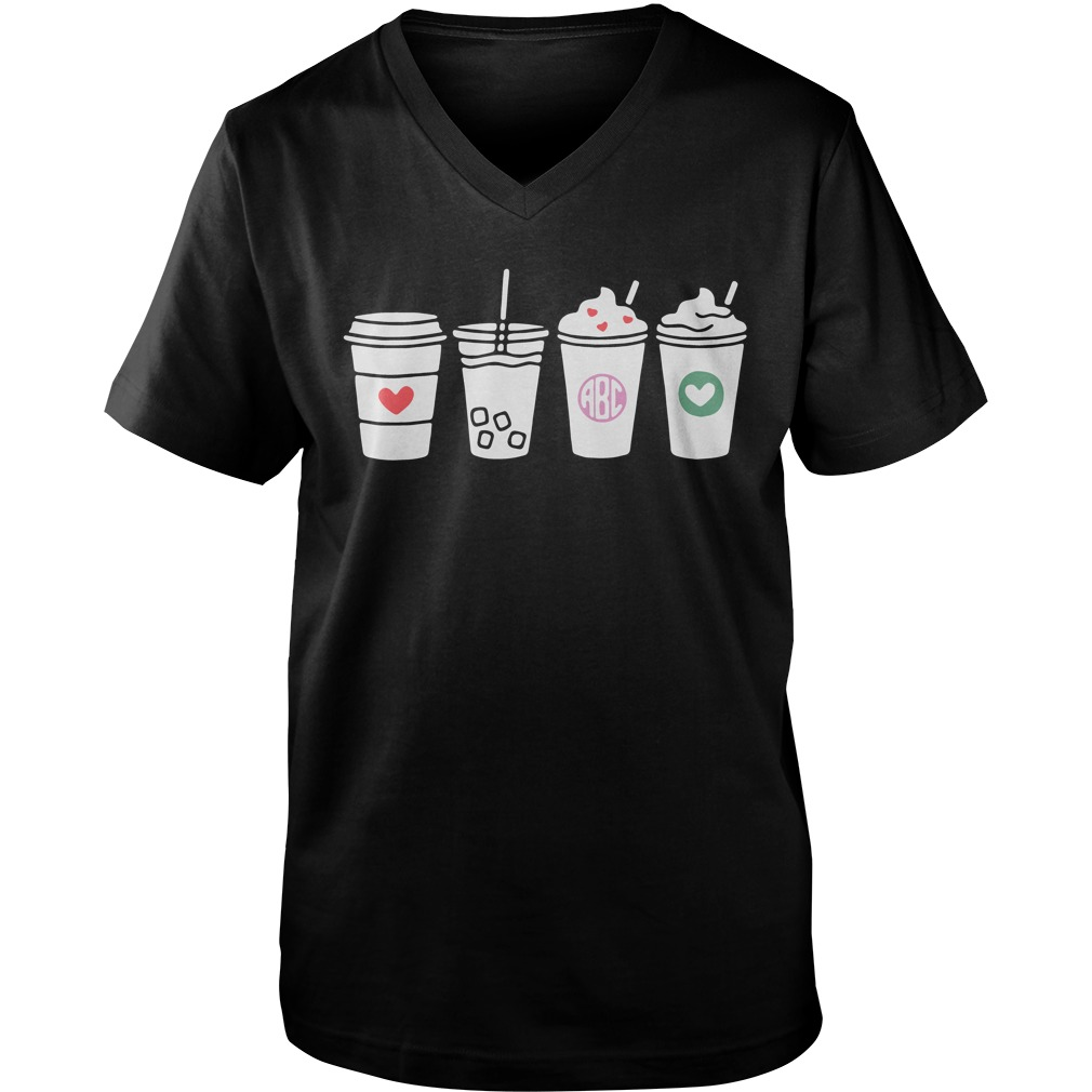 Four Cups Abc Love guys v-neck