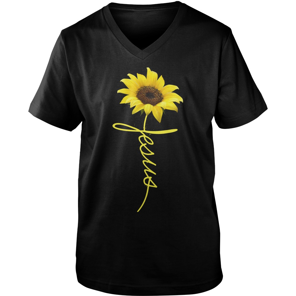 Jesus Sunflower guys v-neck