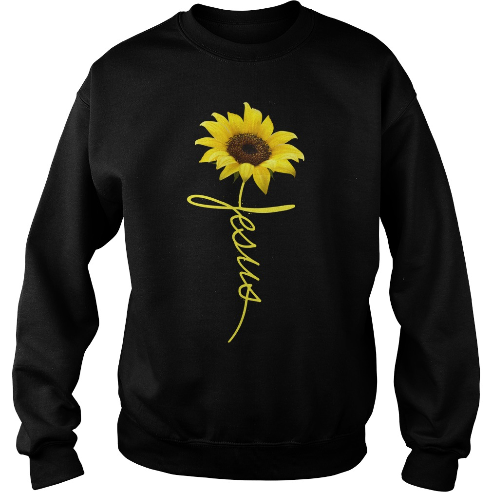 Jesus Sunflower sweatshirt unisex