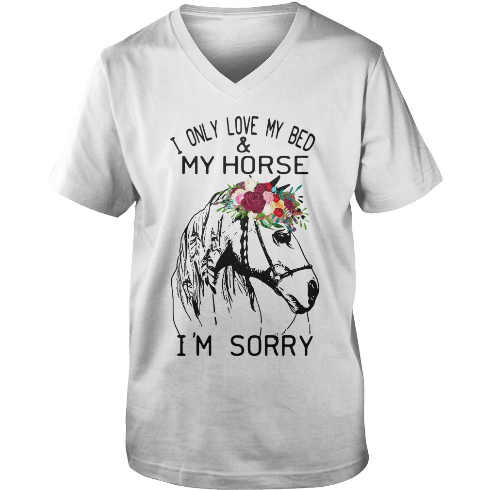 I Only Love My Bed And My Horse I'm Sorry guys v-neck