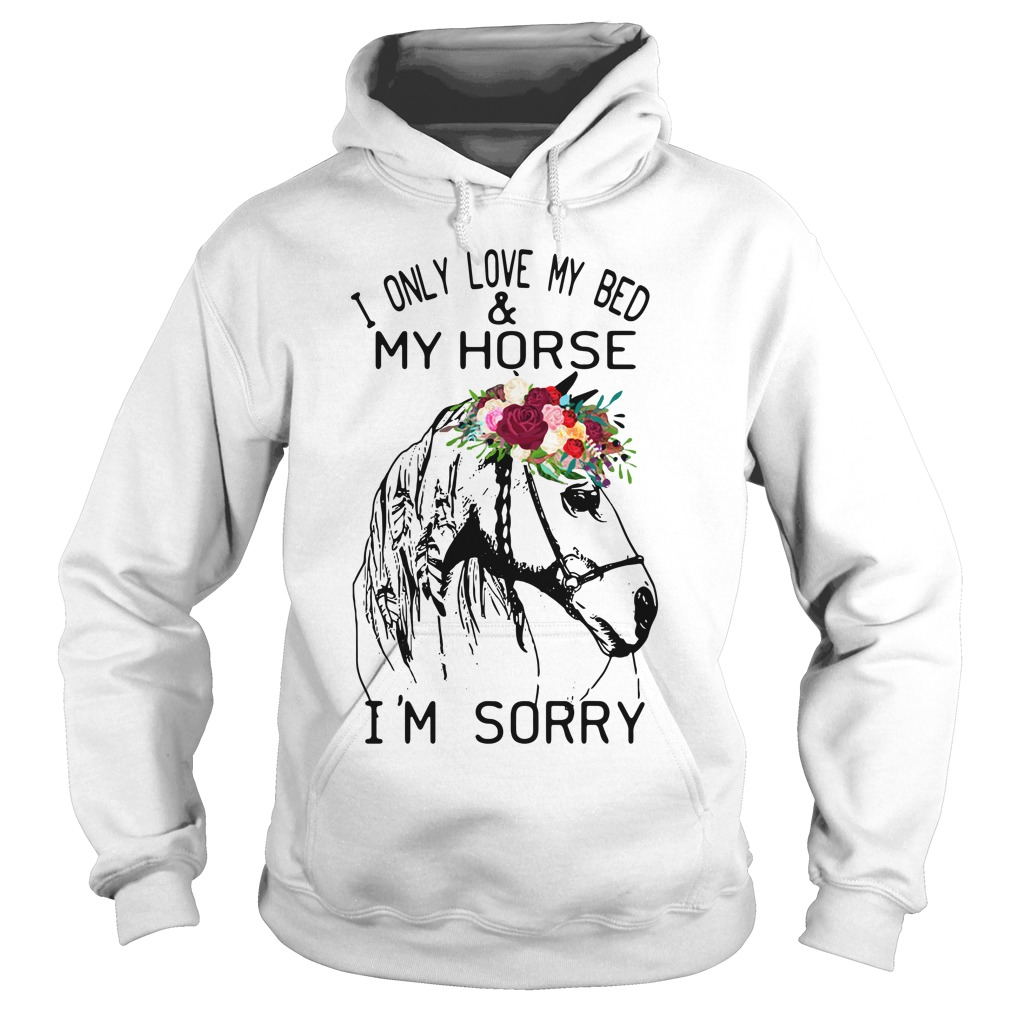 I Only Love My Bed And My Horse I'm Sorry hoodie