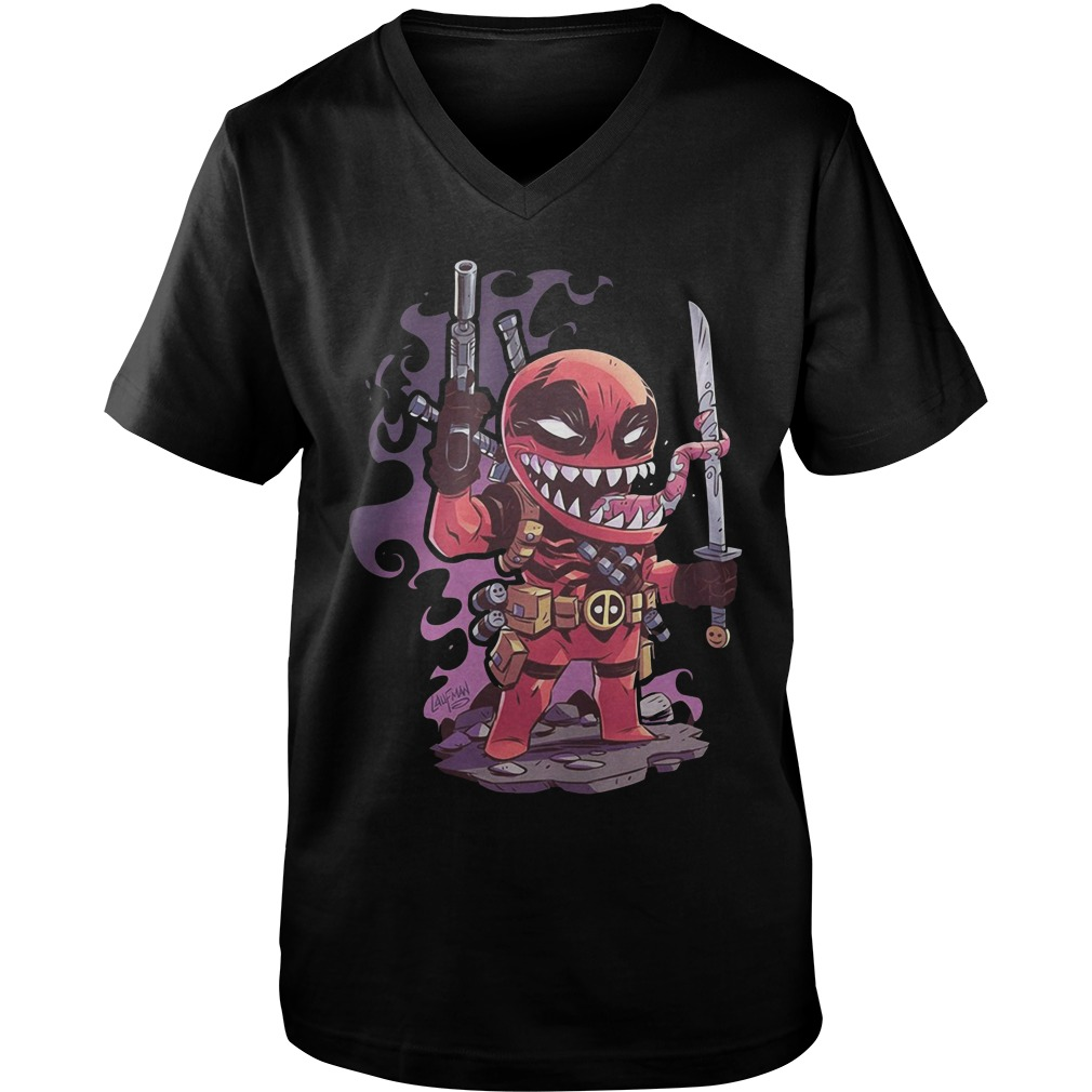 Marvel Venompool Style Chibi guys v-neck