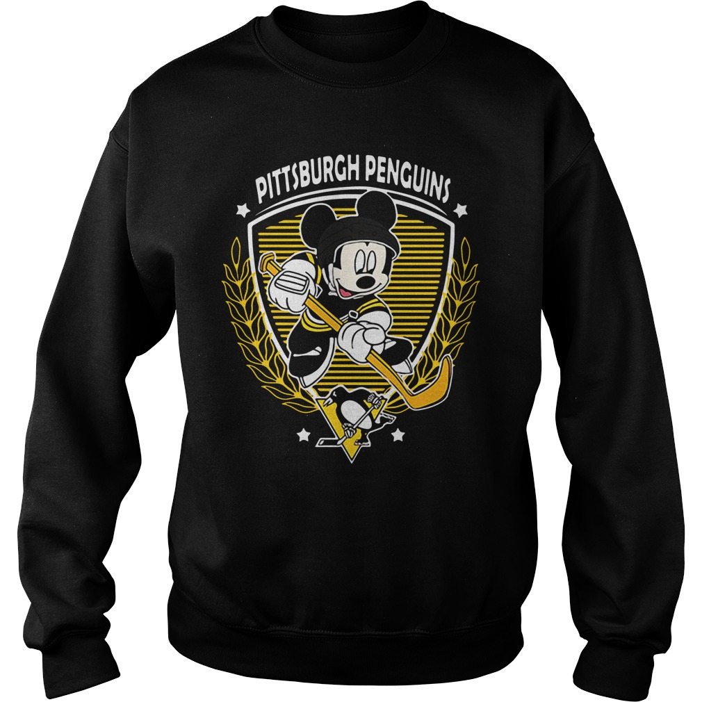 Nhl Hockey Mickey Mouse Team Pittsburgh Penguins sweatshirt unisex