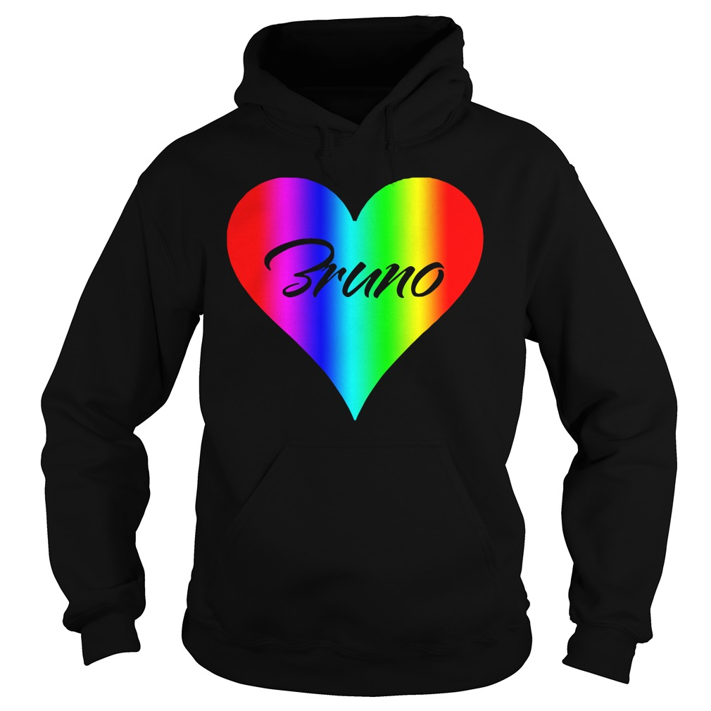 Official Bruno Colorful Heart Version hoodie