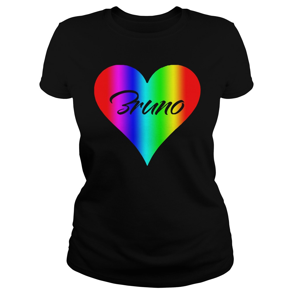 Official Bruno Colorful Heart Version ladies tee