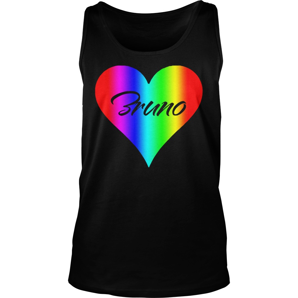 Official Bruno Colorful Heart Version tank top