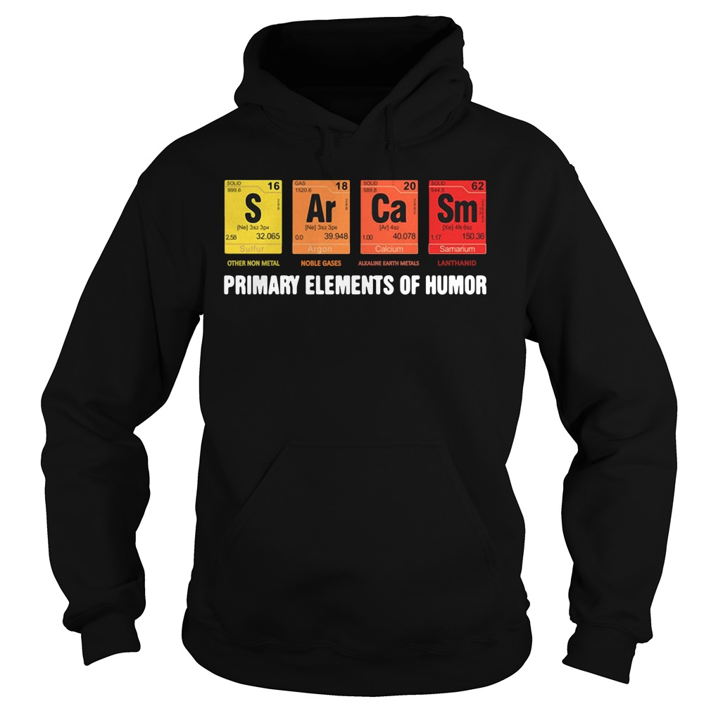 Official Mens Sarcasm Elements Of Humor Periodic Table hoodie