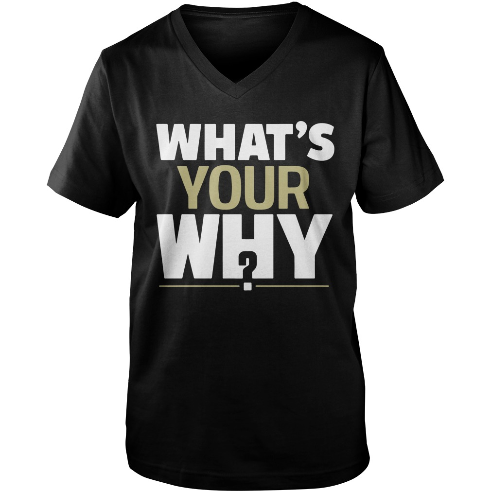 Official What's Your Why? guys v-neck