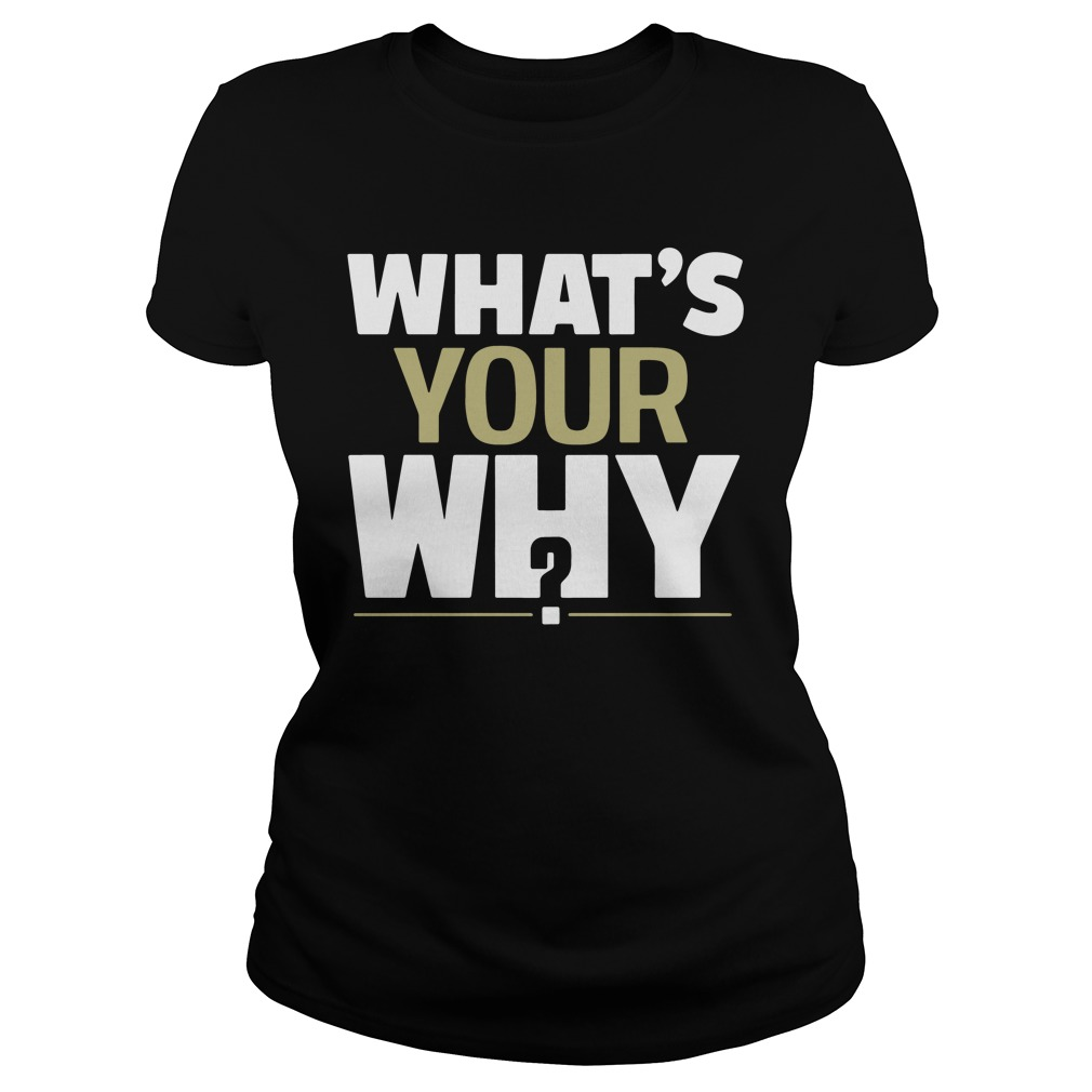 Official What's Your Why? ladies tee