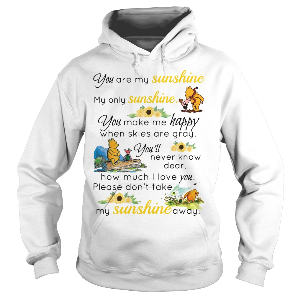 Piglet And Pooh You Are My Sunshine hoodie