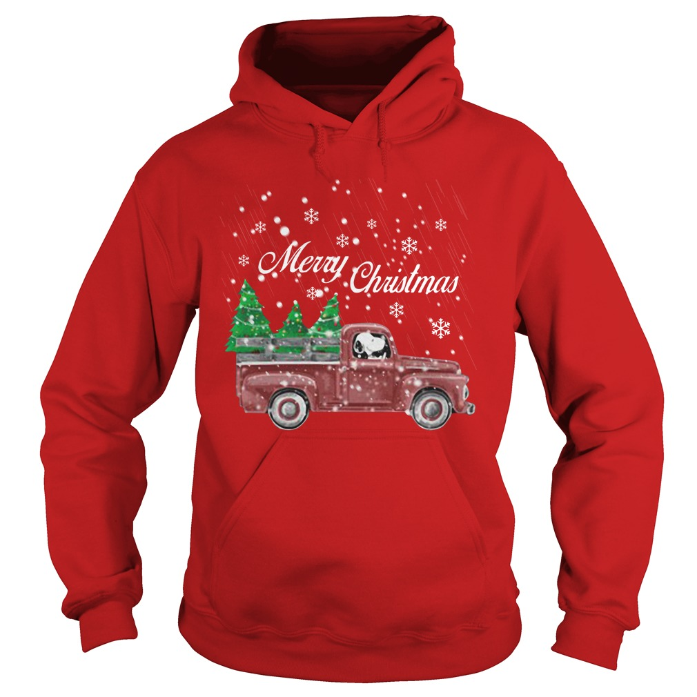 Tree Dog Car Merry Christmas hoodie