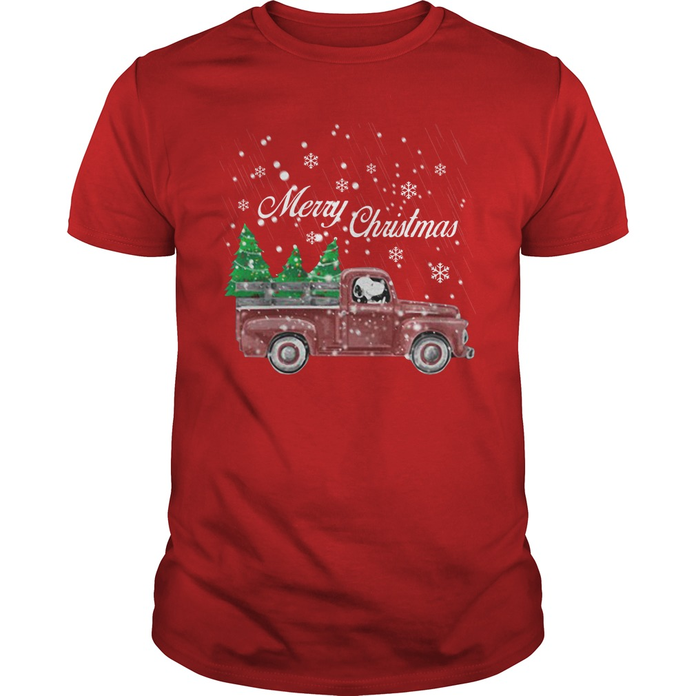 Tree Dog Car Merry Christmas classic guys
