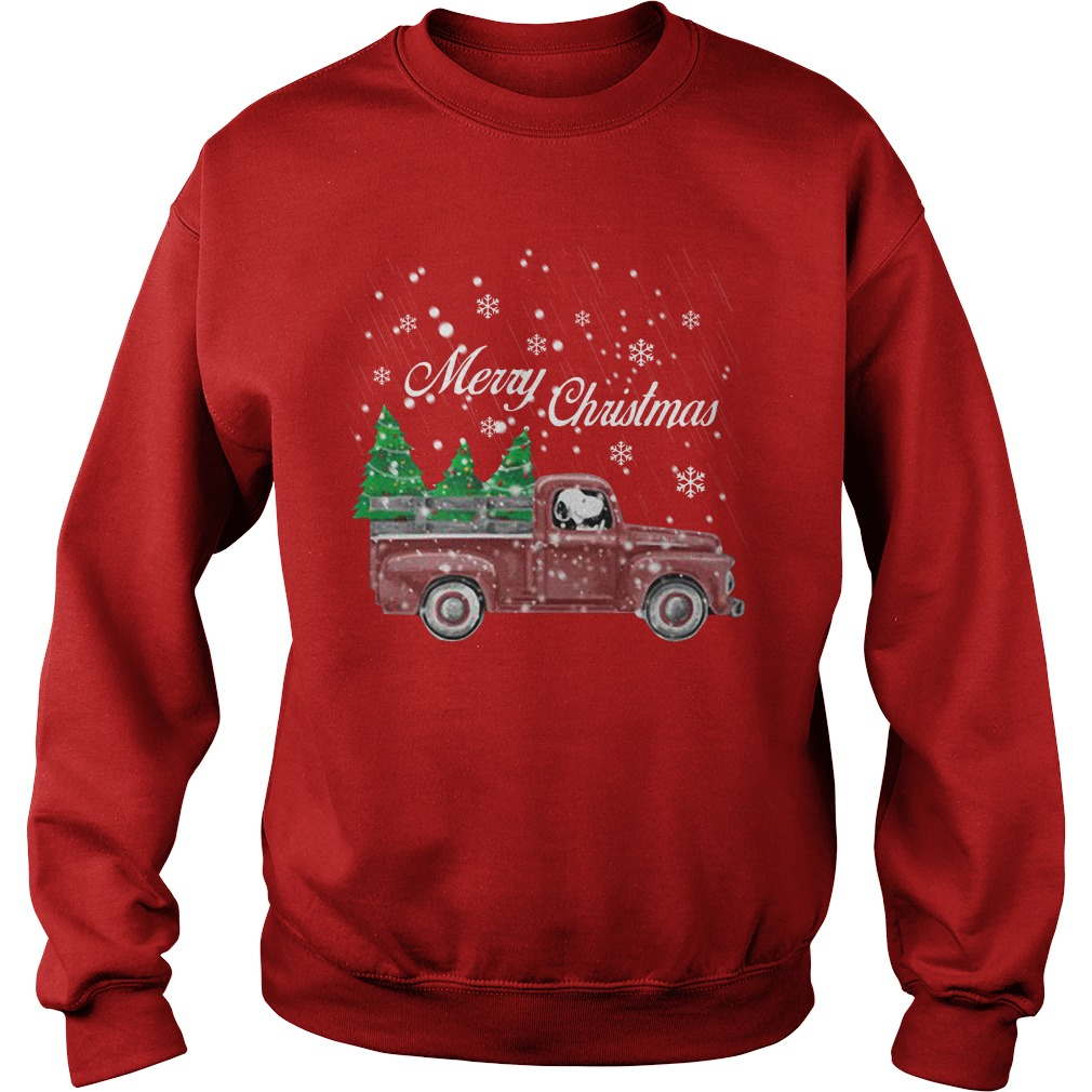 Tree Dog Car Merry Christmas Sweatshirt