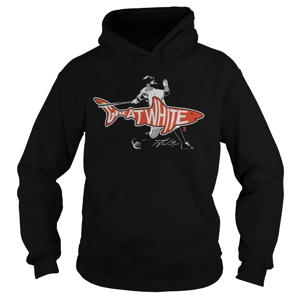 Tyler White Houston Great White Shark hoodie