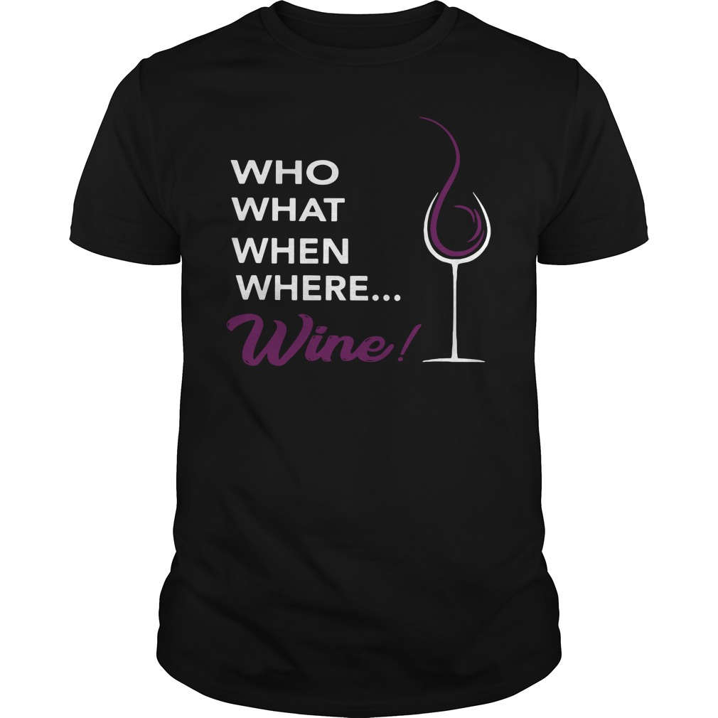 Who What When Where Wine! classis guys