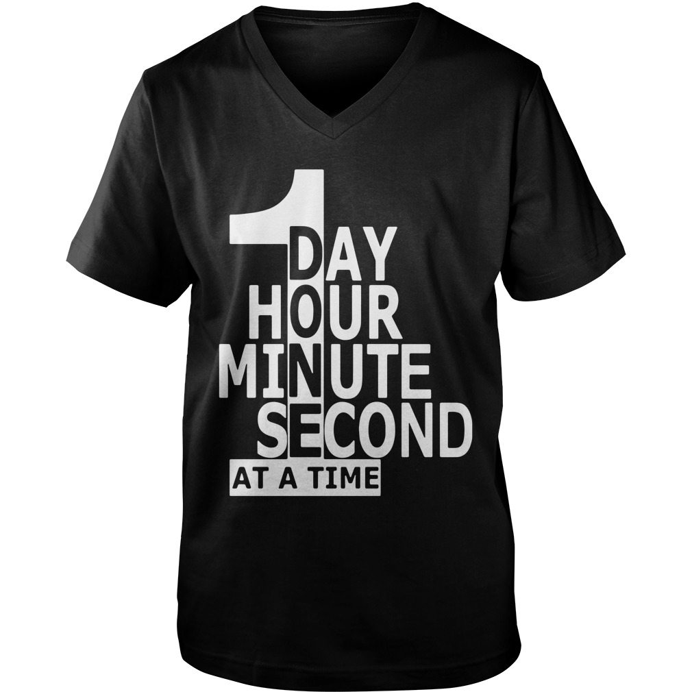 1 Day Hour Minute Second At A Time guys v-neck