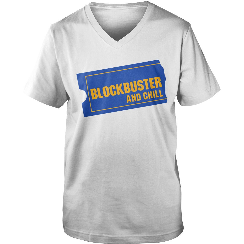 Blockbuster And Chill guys v-neck