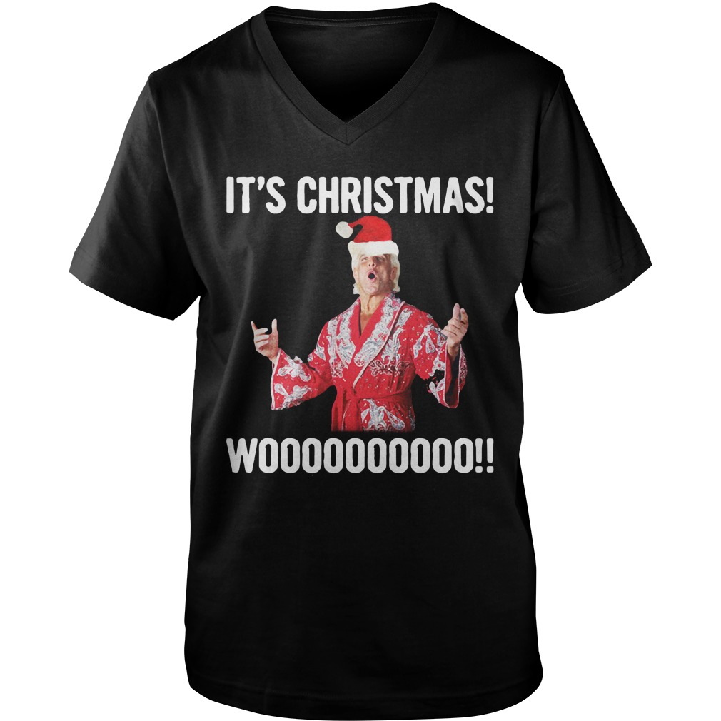 It's Christmas Wooo!! Ric Flair guys v-neck