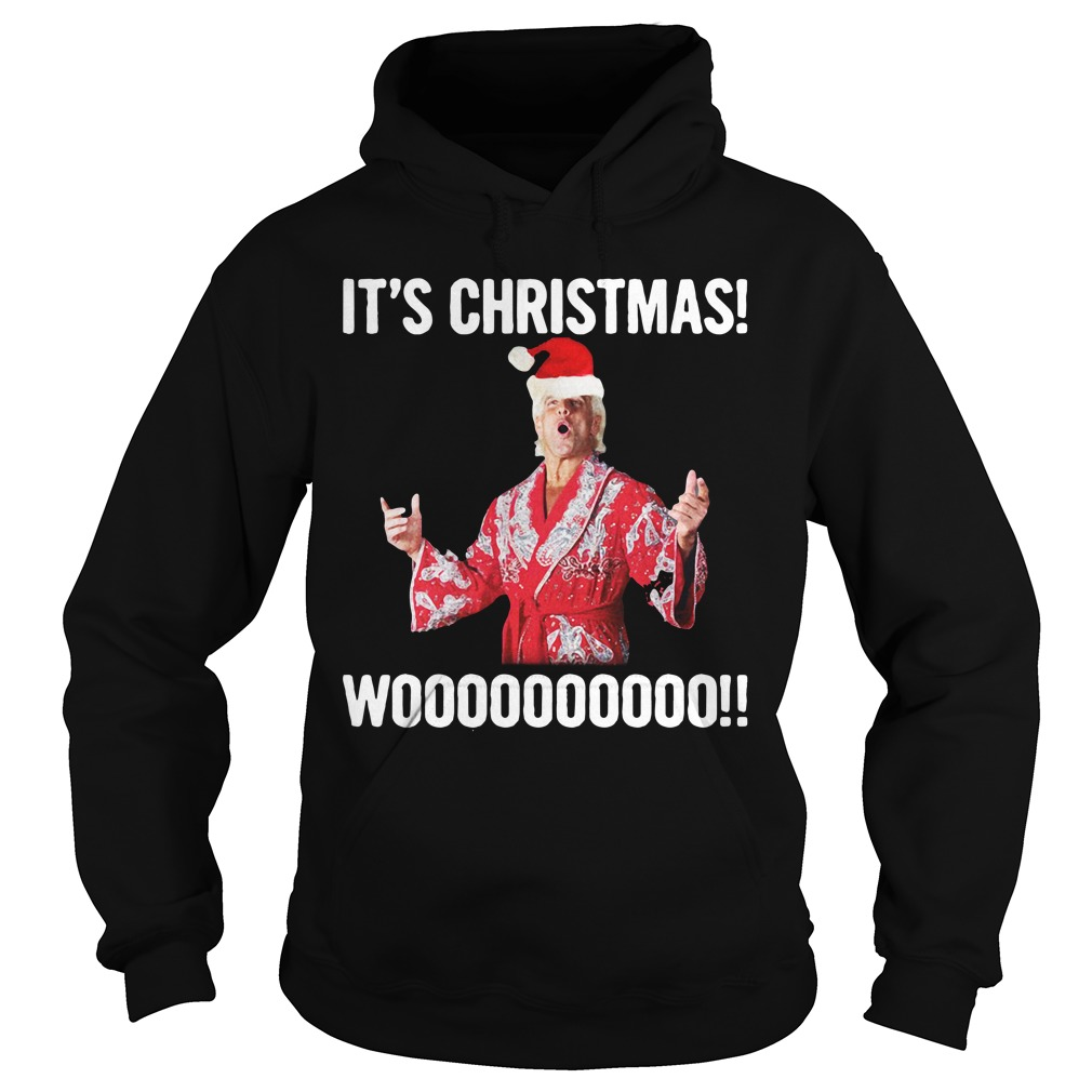 It's Christmas Wooo!! Ric Flair hoodie