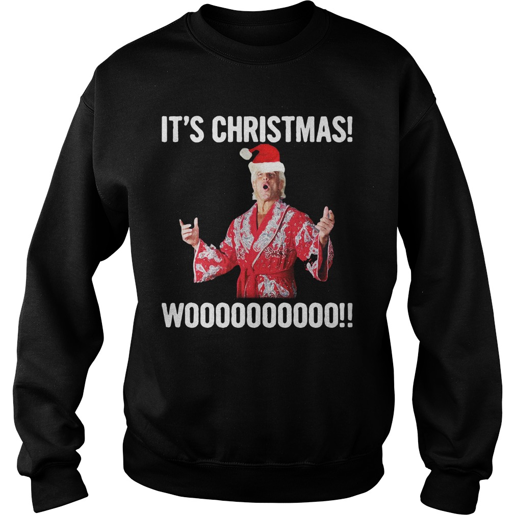 It's Christmas Wooo!! Ric Flair Sweatshirt