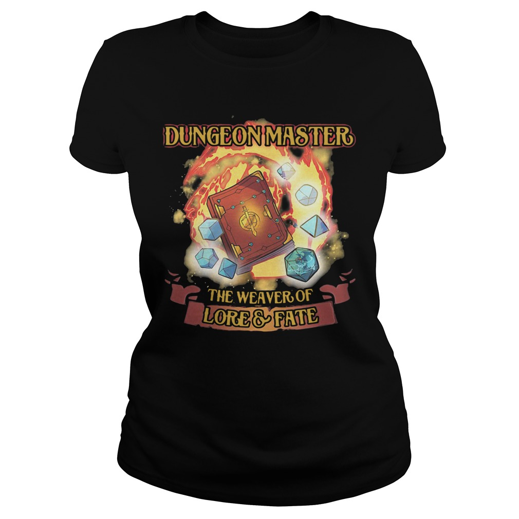 Dungeon Master The Weaver Of Lore & Fate ladies tee