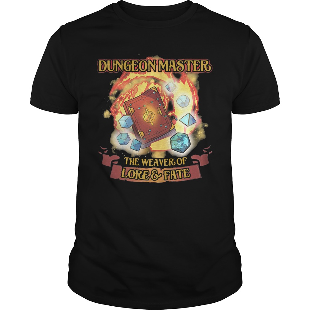 Dungeon Master The Weaver Of Lore & Fate unisex tee