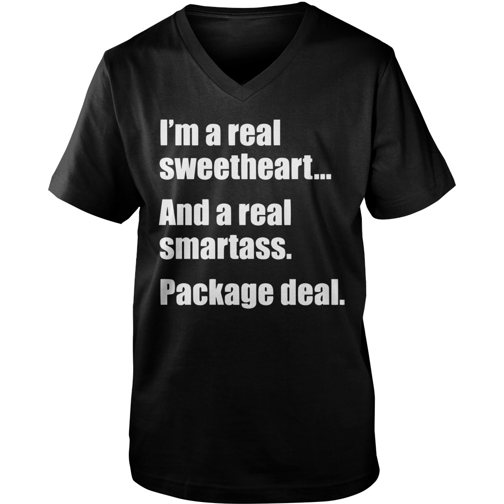 I'm A Real Sweetheart And A Real Smartass Package Deal guys v-neck