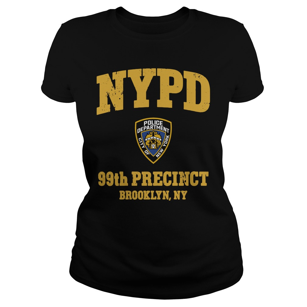 Nypd Police Department City Of New York 99th Precinct Brooklyn Ny ladies tee