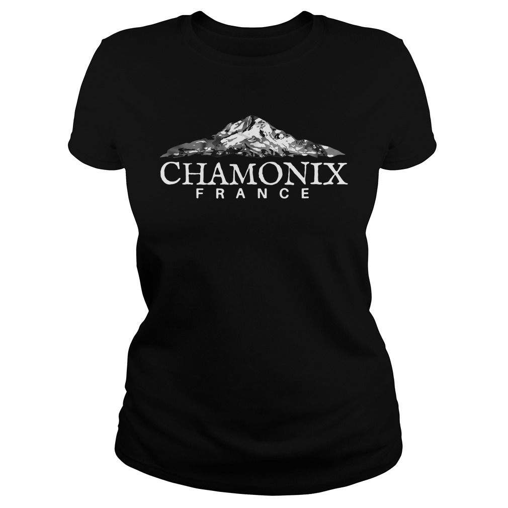 Official Chamonix France ladies tee