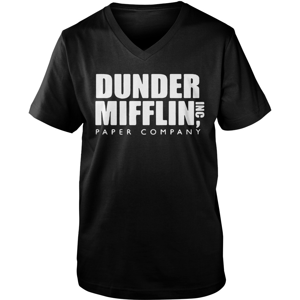 Official The Office Dunder Mifflin Paper Company Guys v Neck