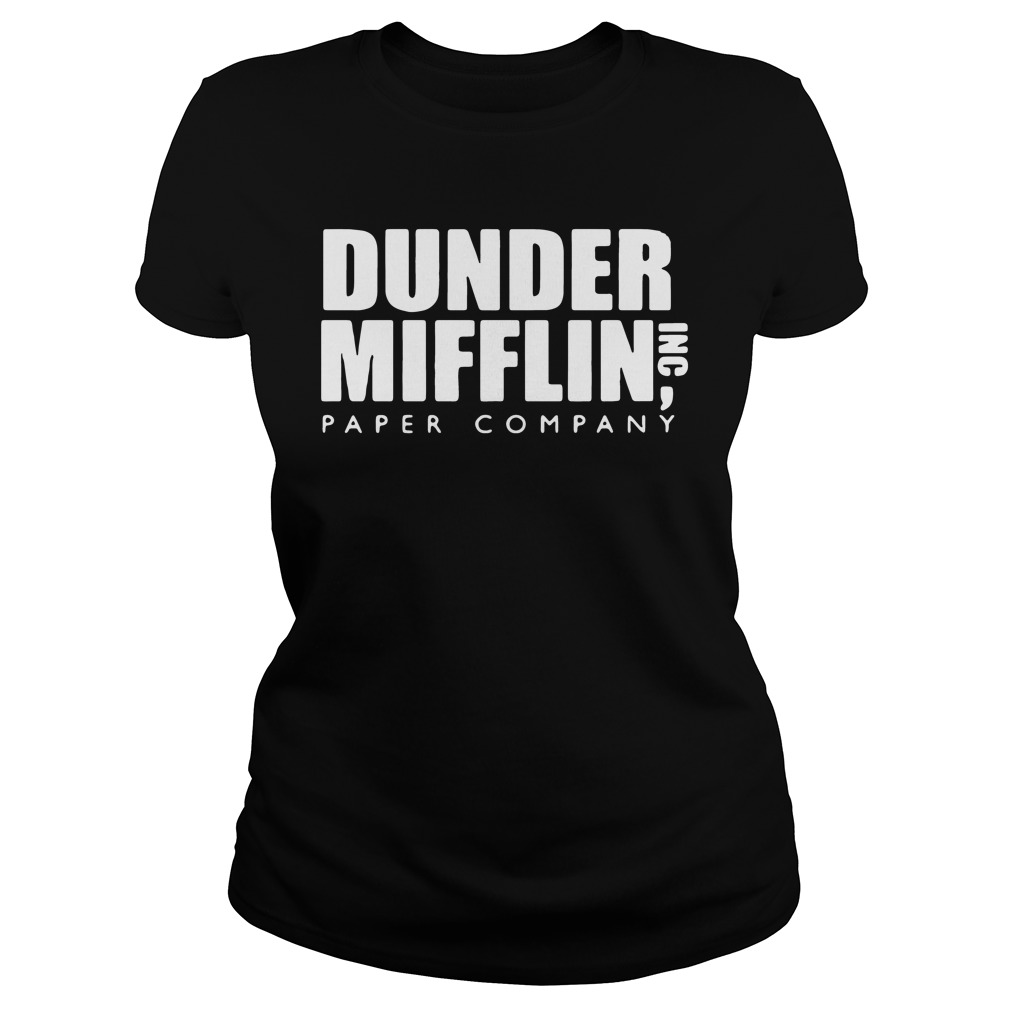Official The Office Dunder Mifflin Paper Company Ladies tee