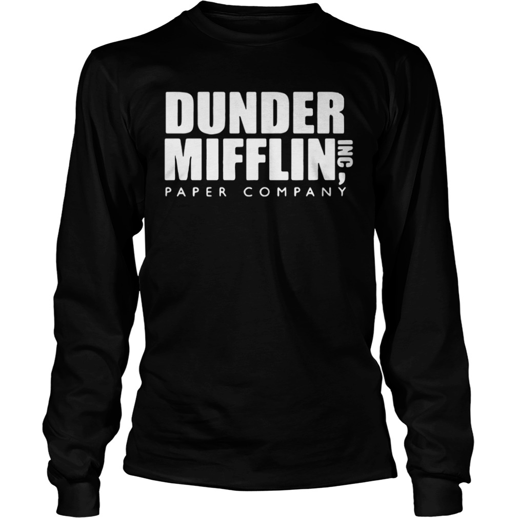 Official The Office Dunder Mifflin Paper Company Longsleeve