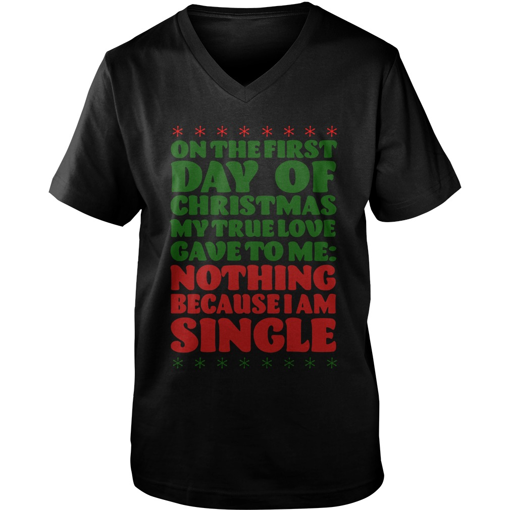 On The First Day Of Christmas guys v-neck