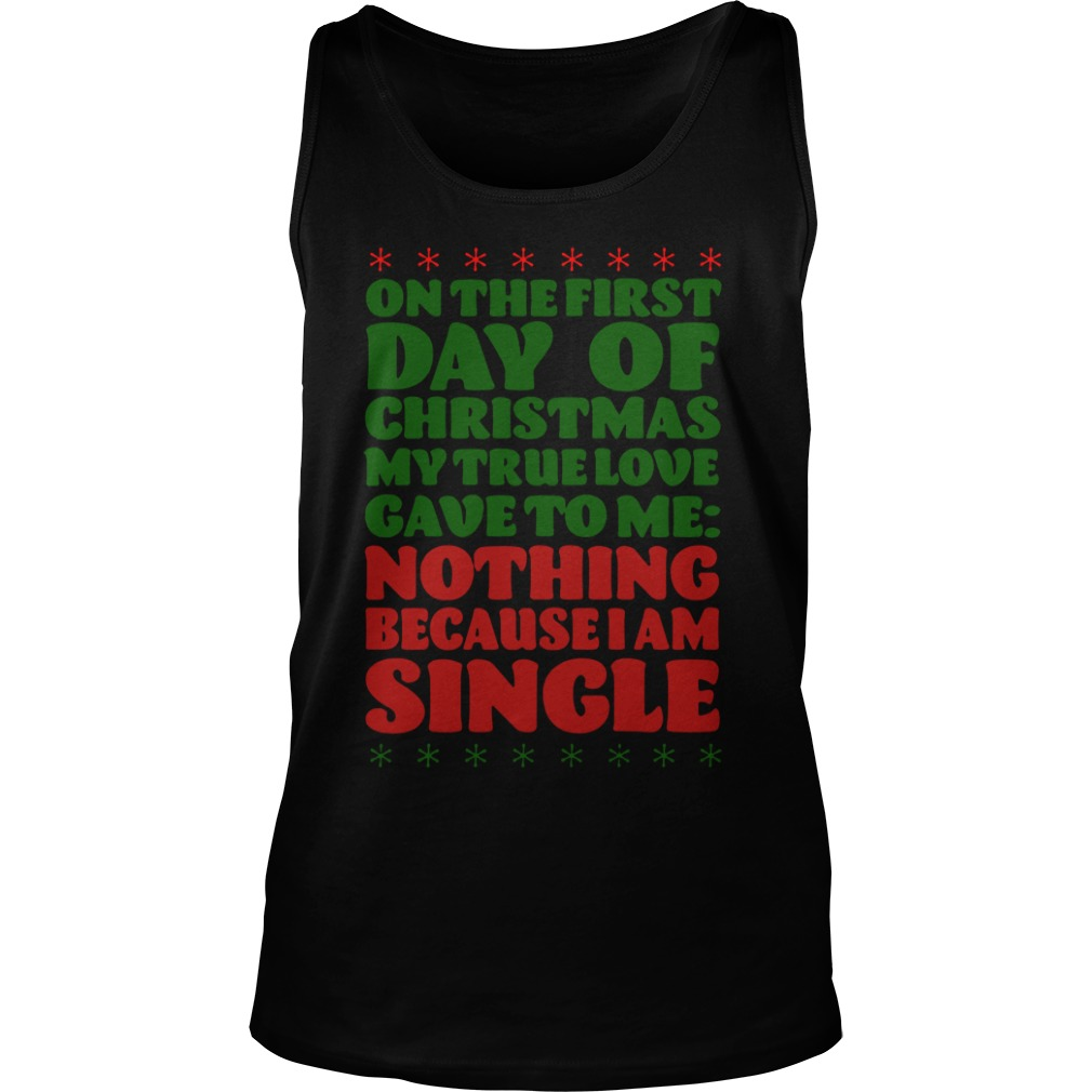 On The First Day Of Christmas tank top