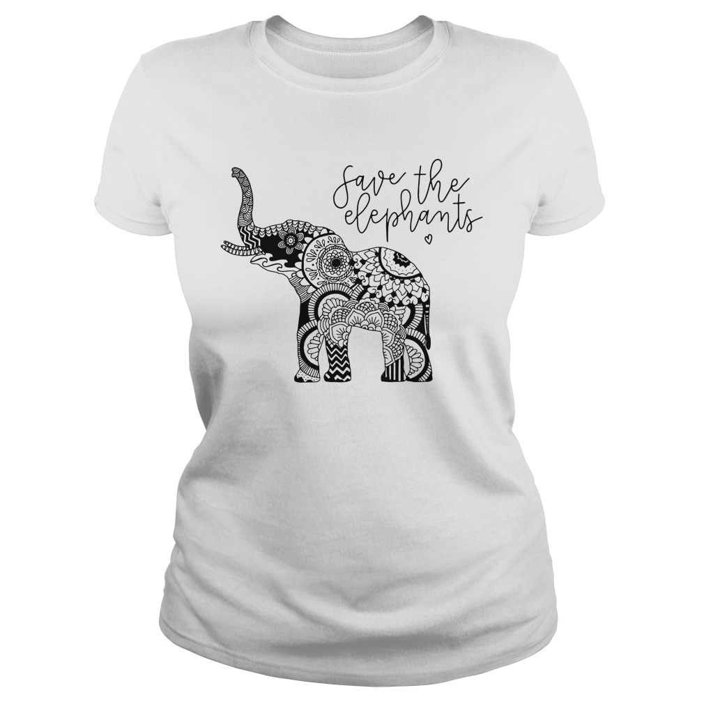 Save The Elephants ladies tee