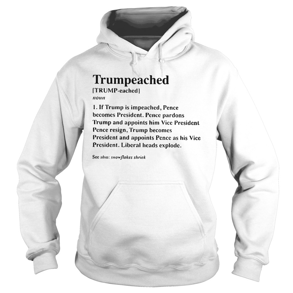 Trumpeached Definition Funny hoodie