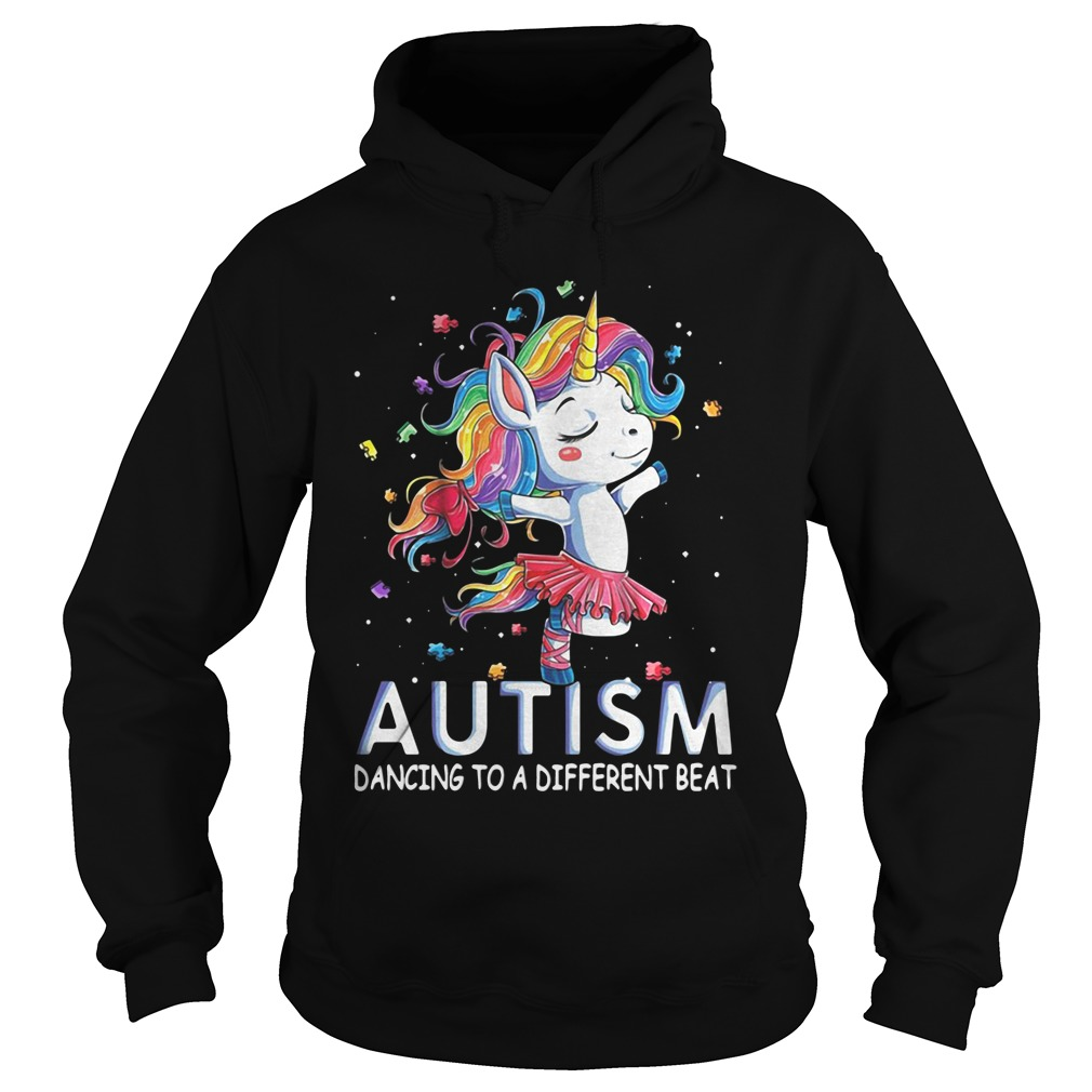 Unicorn Ballet Autism Dancing To A Different Beat hoodie