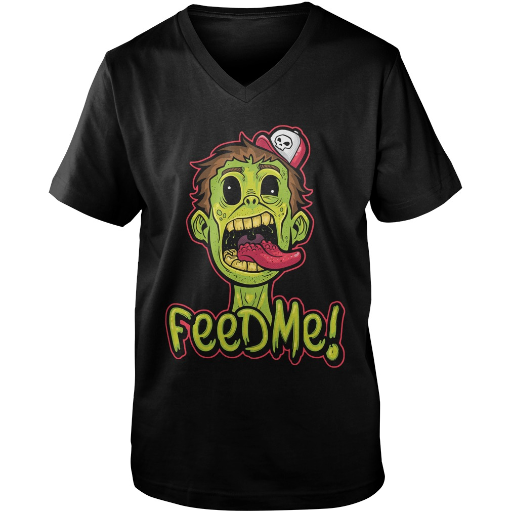 Zombie! Double Sided Feed Me Guys v neck