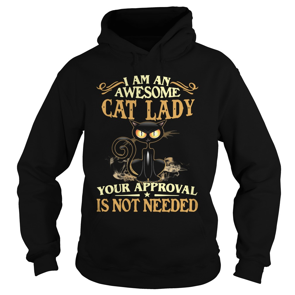 I Am An Awesome Cat Lady Your Approval Is Not Needed hoodie