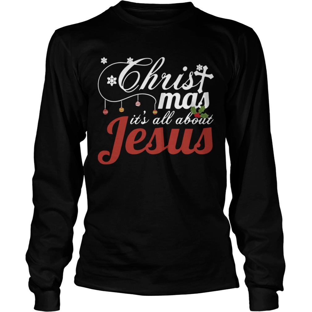 Christmas It's All About Jesus long sleeve