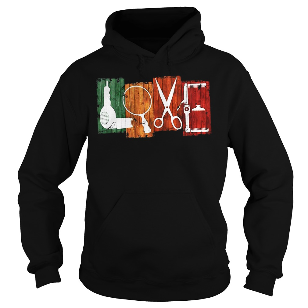 Love Drag Magnifying Glass Drilling Machine hoodie