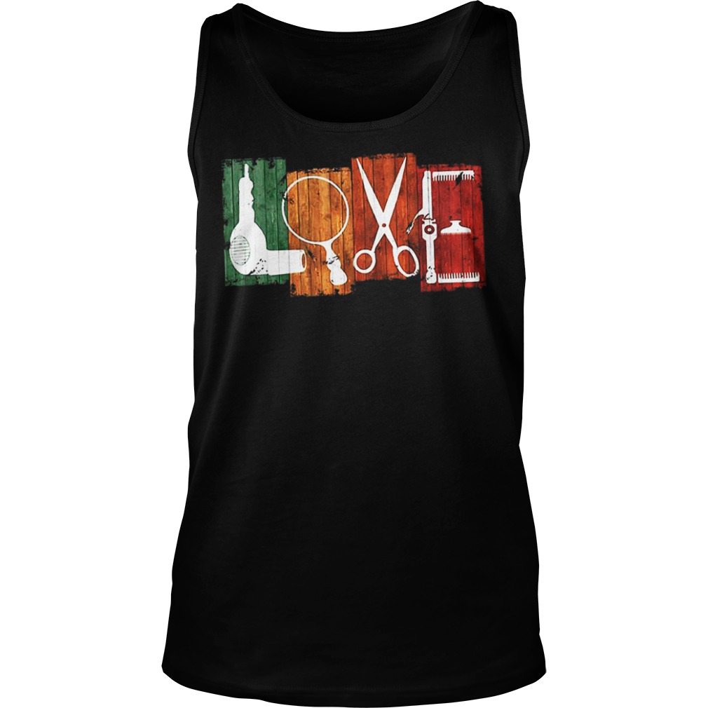 Love Drag Magnifying Glass Drilling Machine tank top