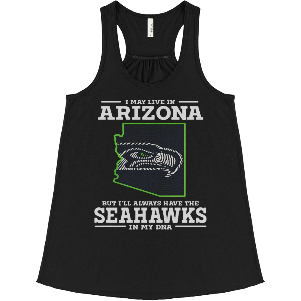 May Live Arizona Ill Always Seahawks Dna Baltimore Ravens Flowy Tank