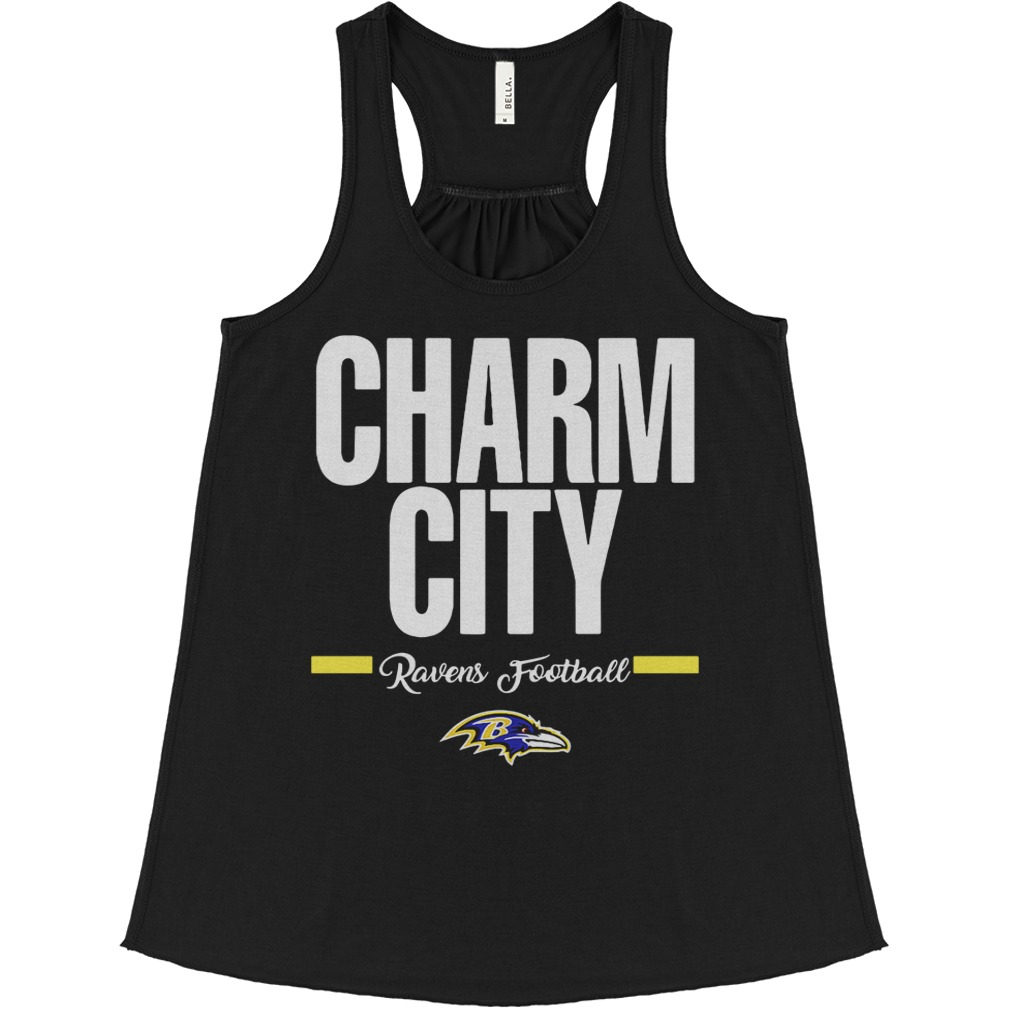 Official Charm City Ravens Football Baltimore Ravens flowy tank
