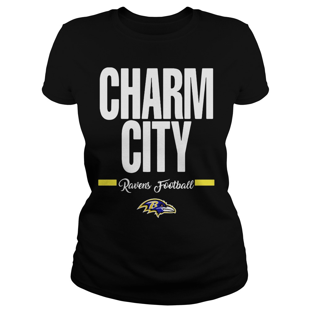 Official Charm City Ravens Football Baltimore Ravens ladies tee