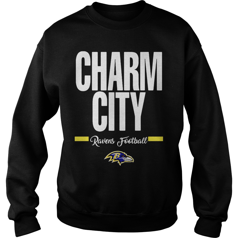 Official Charm City Ravens Football Baltimore Ravens Sweatshirt