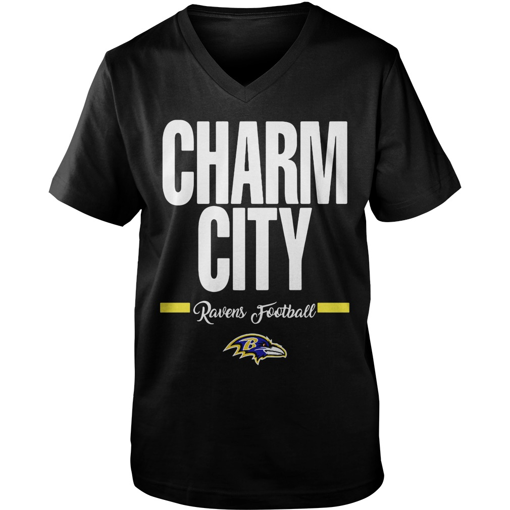Official Charm City Ravens Football Baltimore Ravens v-neck