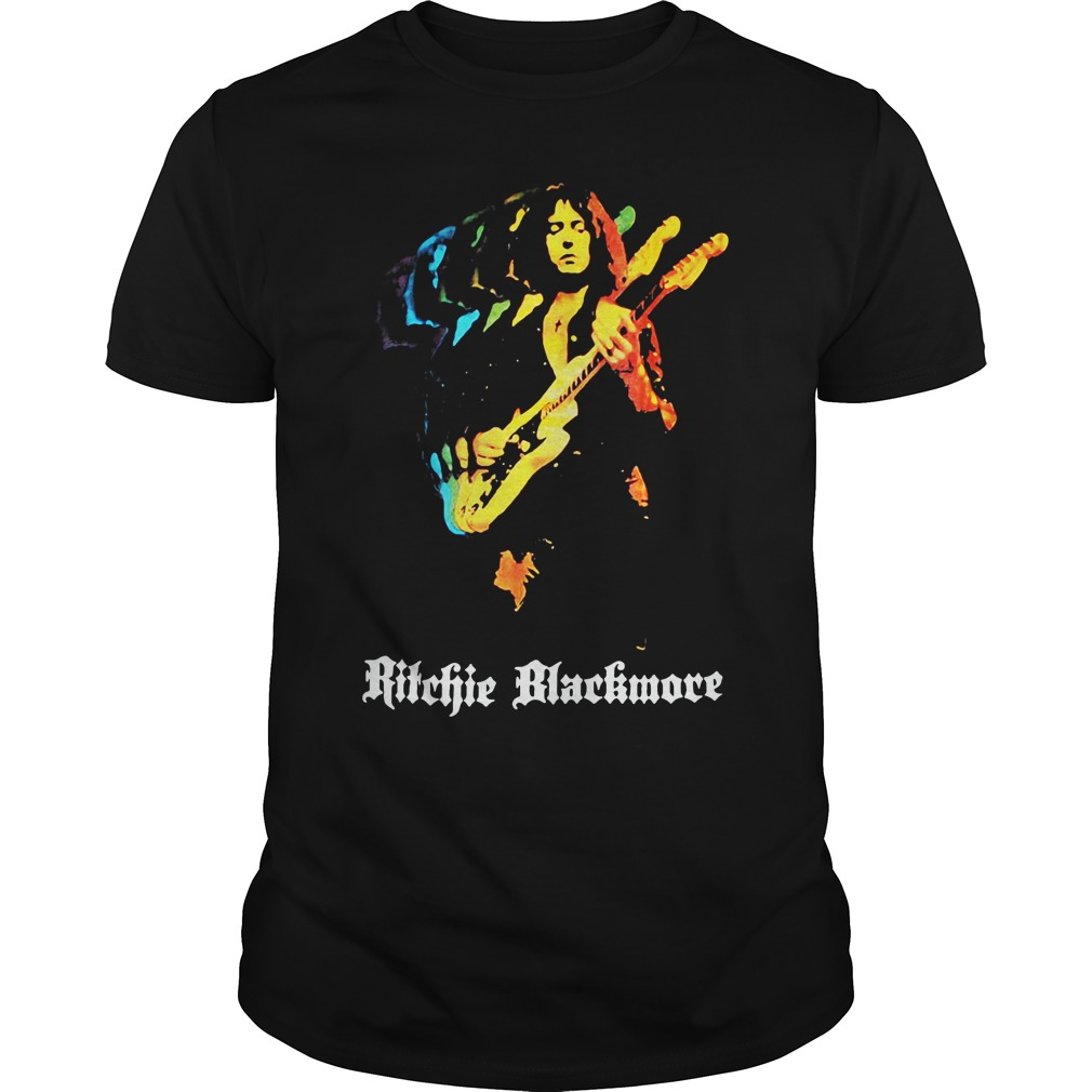 Ritchie Blackmore Solo New Black unisex tee
